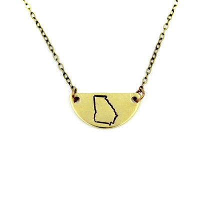 Georgia Mini Half Moon Necklace