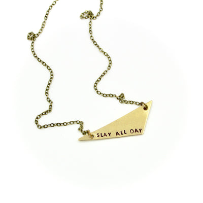 Slay All Day Triangle Necklace
