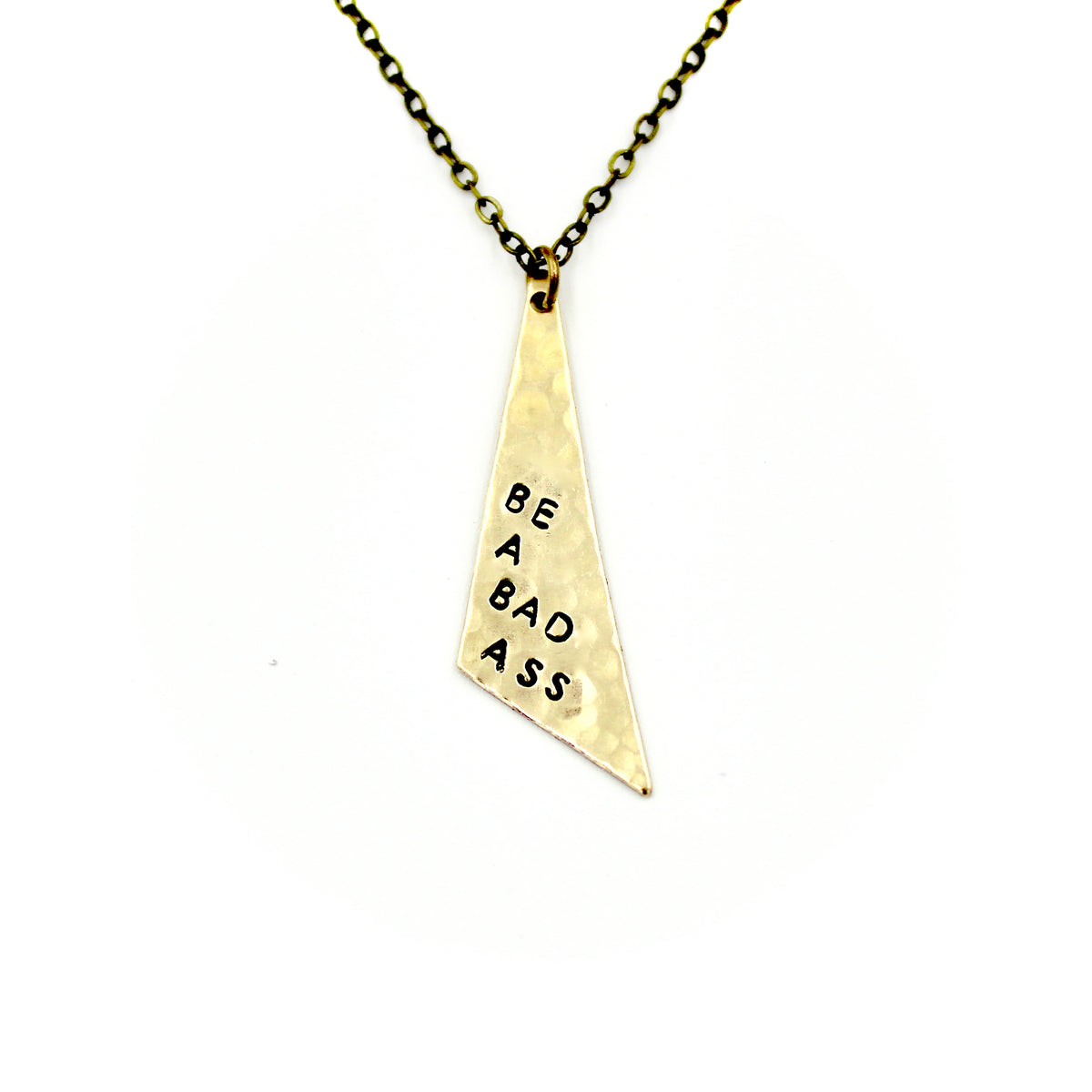 Be A Bad Ass Triangle Necklace