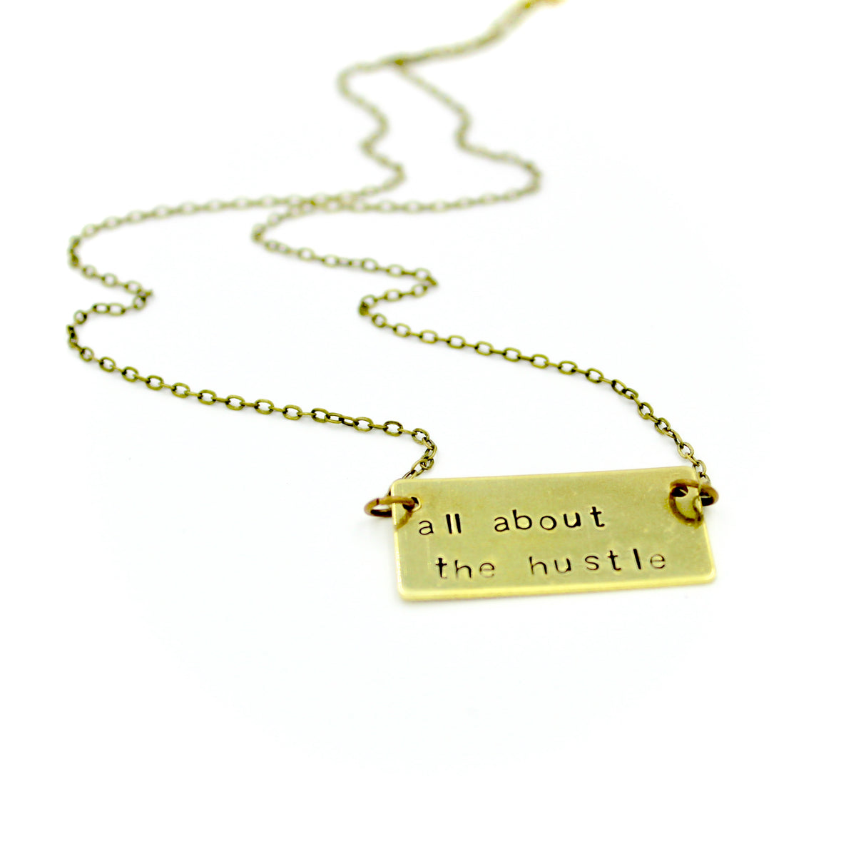 All About The Hustle Bar Necklace