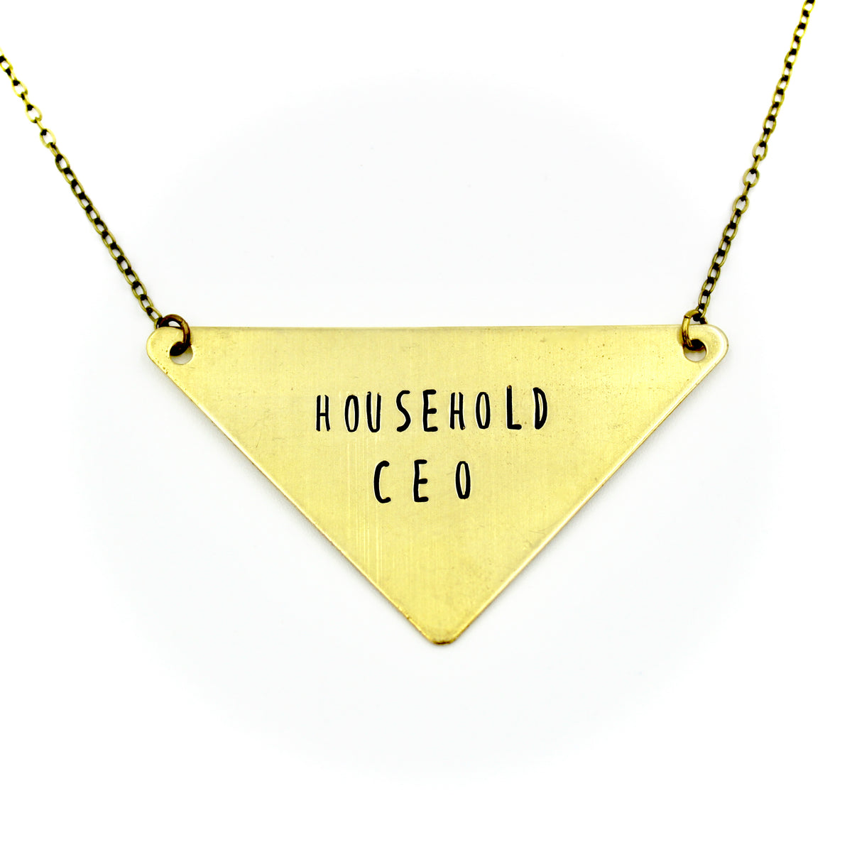 Household CEO Large Triangle Necklace