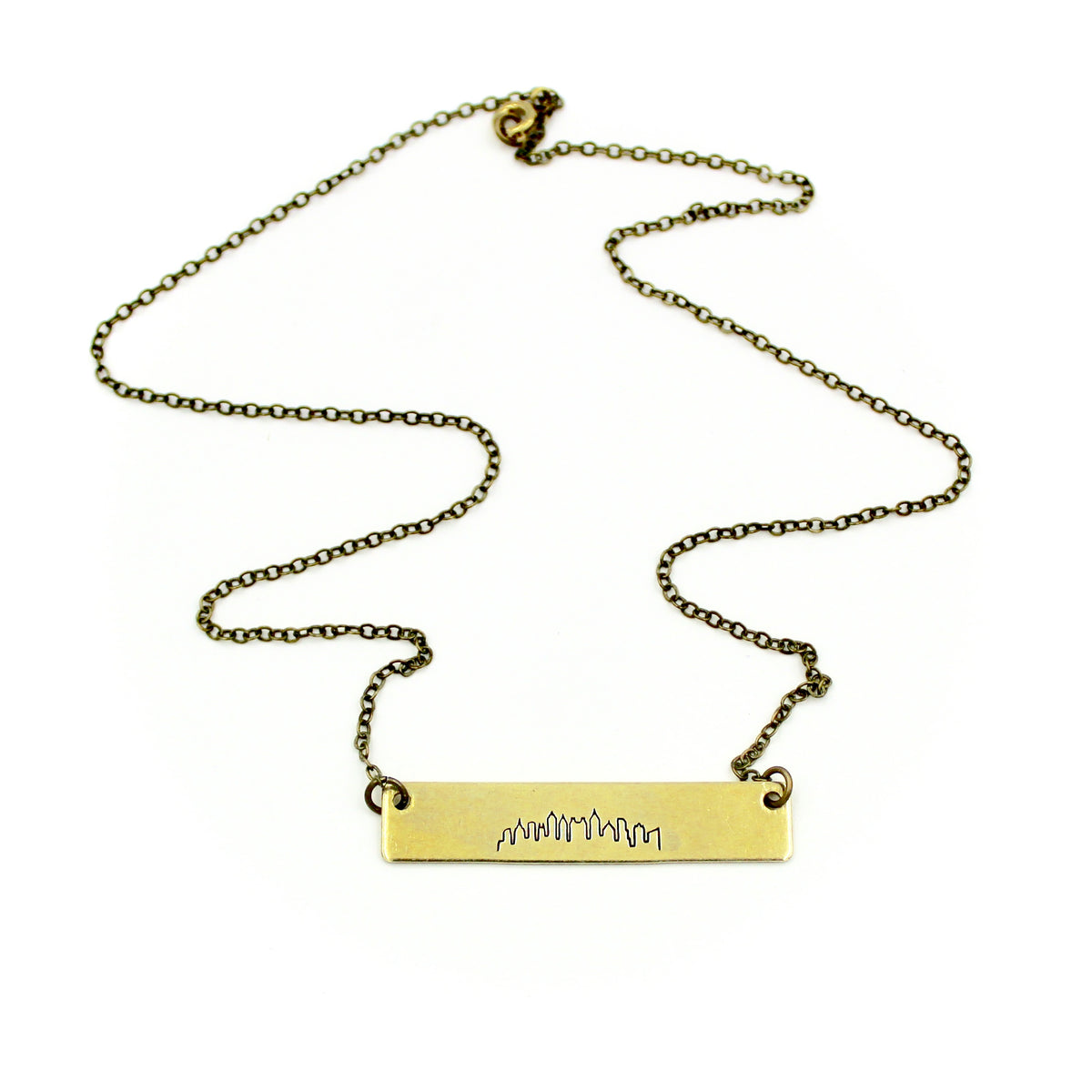 Atlanta Skyline Bar Necklace