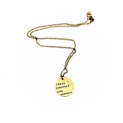 Throw Kindness Like Confetti Necklace