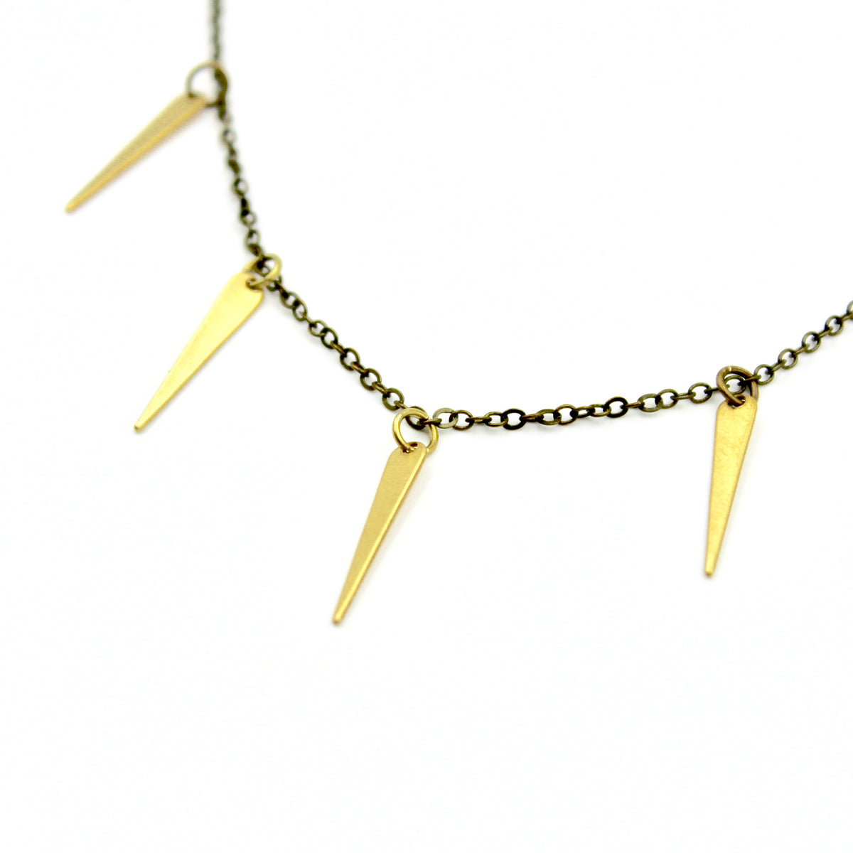 Sprinkle Necklace - Brass Spike