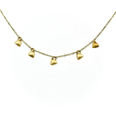 Sprinkle Necklace - Brass Triangle