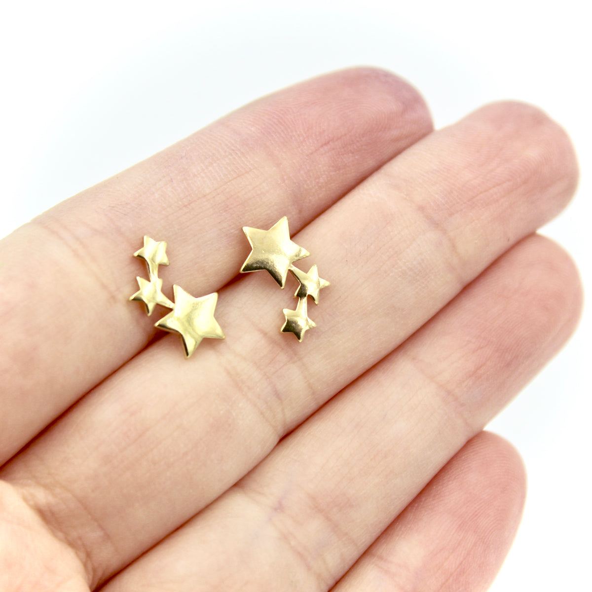 Comet Earrings - Brass