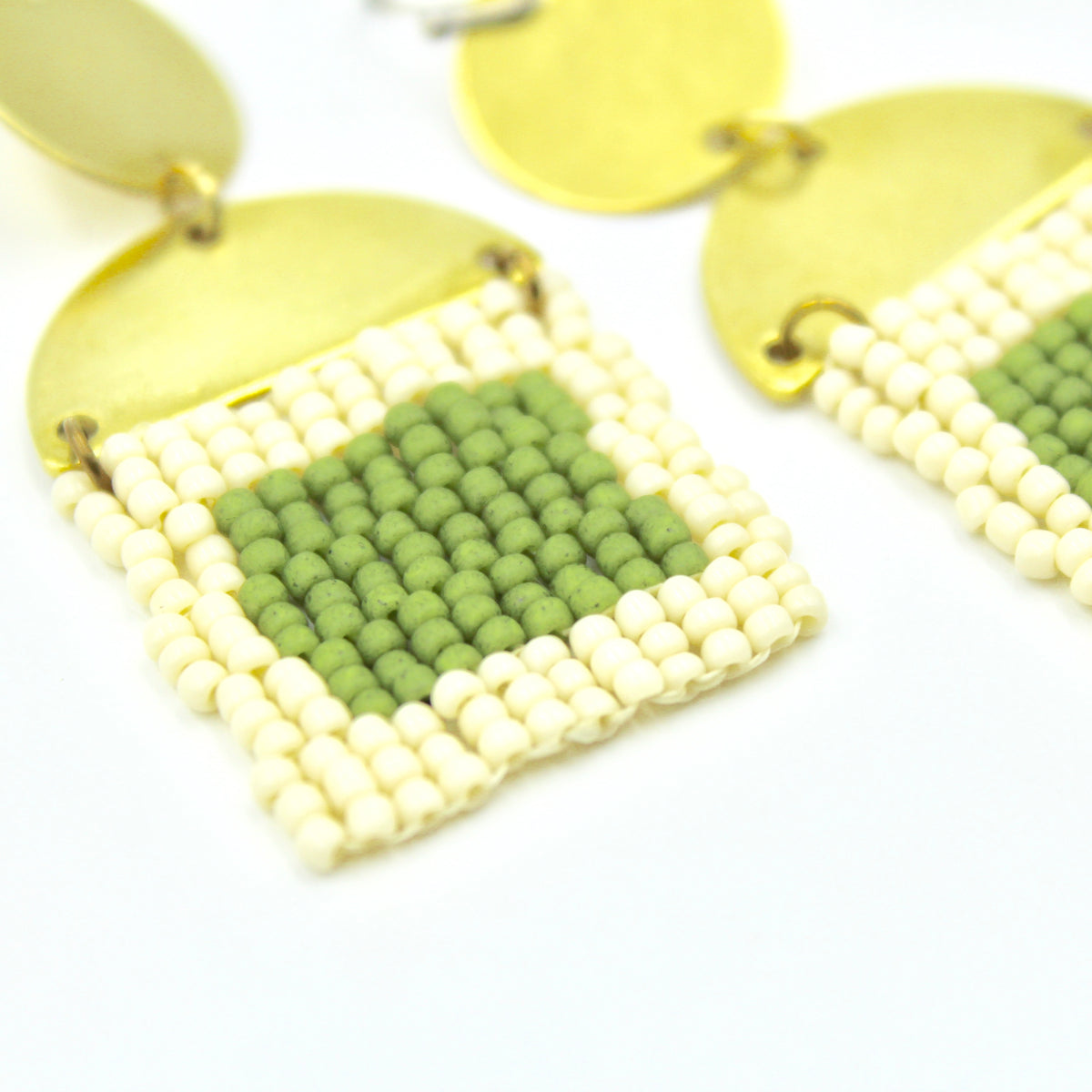 Sonia Earrings - Woven Seed Beads