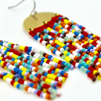 Jojo Earrings - Woven Seed Beads