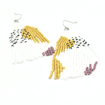 Brielle Earrings - Woven Seed Beads