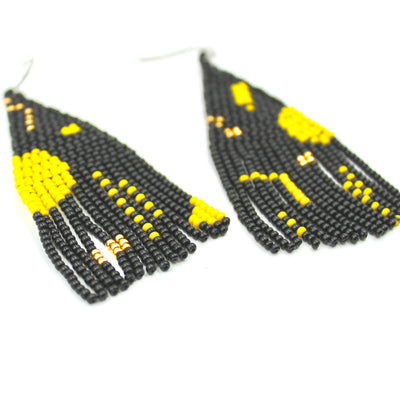 Melanie Earrings - Woven Seed Beads