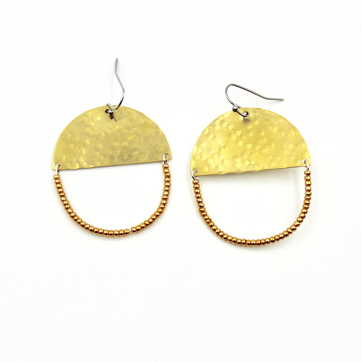 Golden Valley Earrings - Woven Seed Beads
