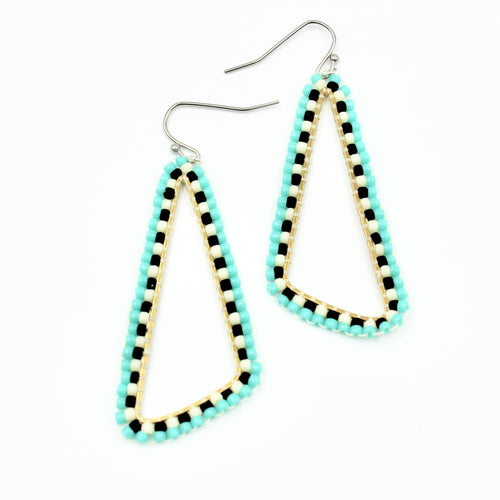 Allie Earrings - Woven Seed Beads