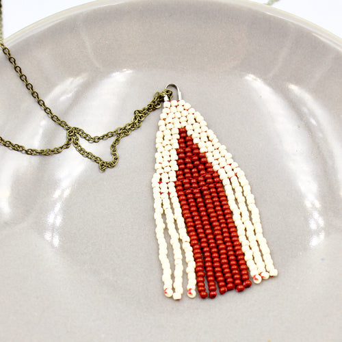 Nicole Necklace - Woven Seed Beads