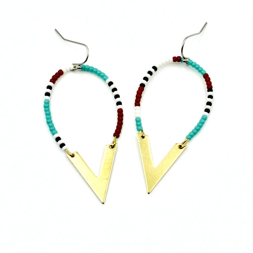 Millie Earrings - Woven Seed Beads