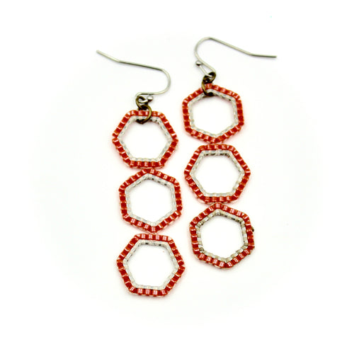 Shaylee Earrings - Woven Seed Beads