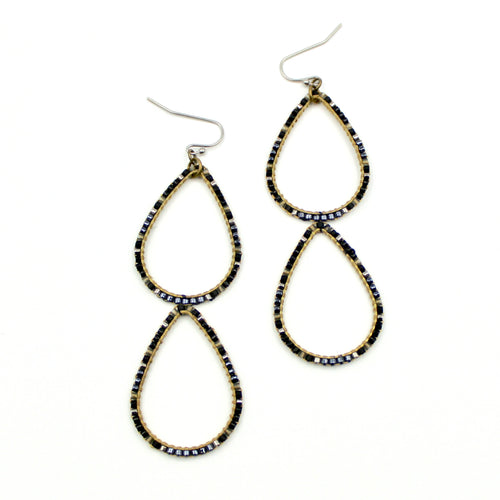 Annie Earrings - Woven Seed Beads