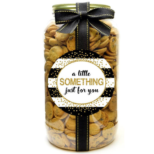 A Little Something For You Gold Confetti Chocolate Chip Cookie Gallon Jar