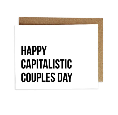 Card - Happy Capitalistic Couples Day