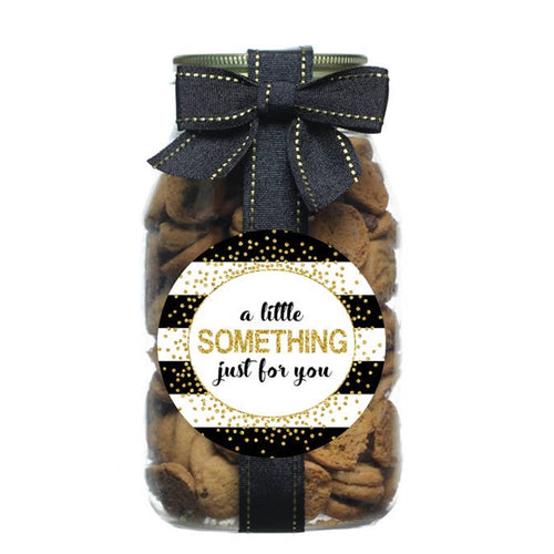 Gold Confetti Gold Quart Chocolate Chip Cookie Jar - Choose Your Label