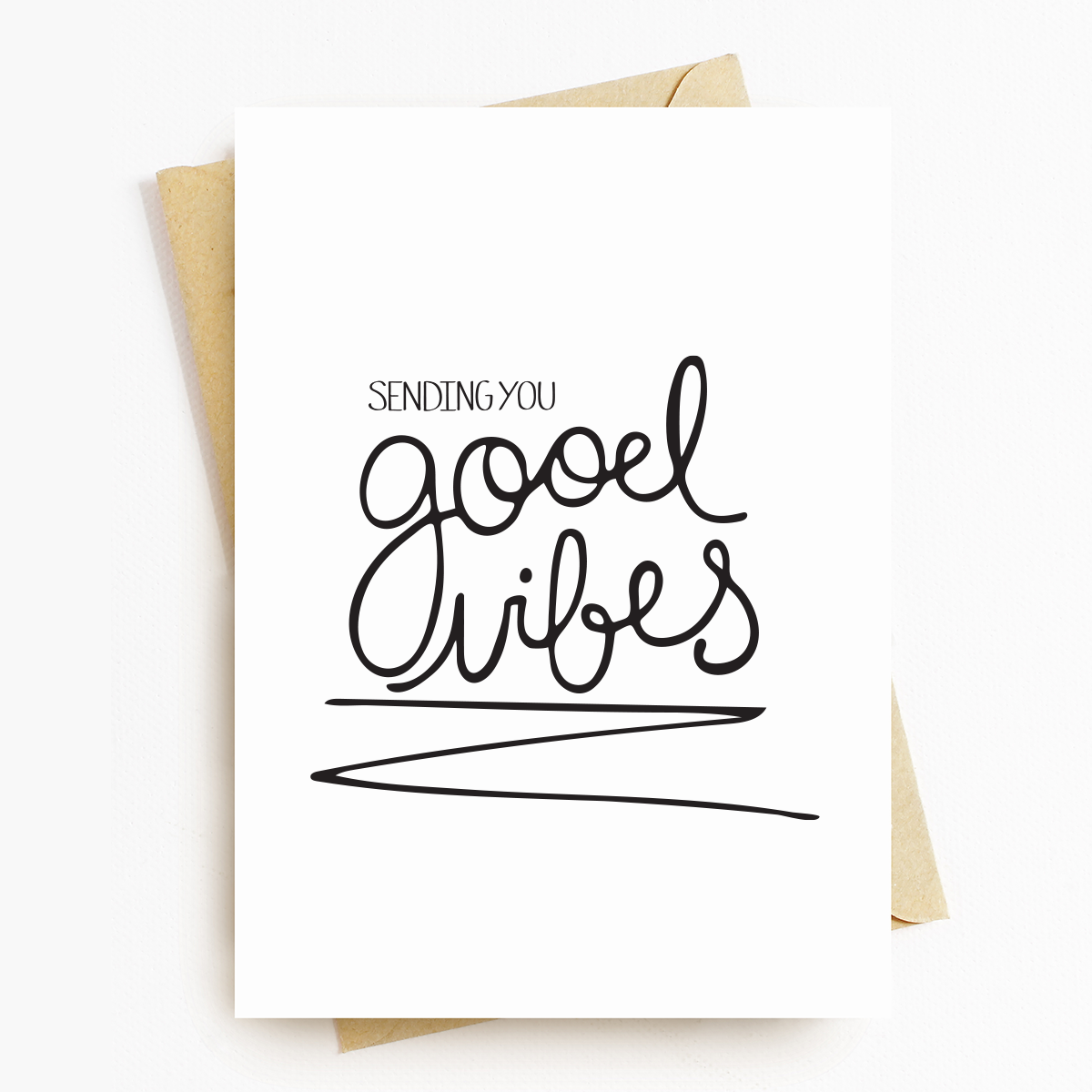 """Good Vibes"" Motivational Greeting Card"
