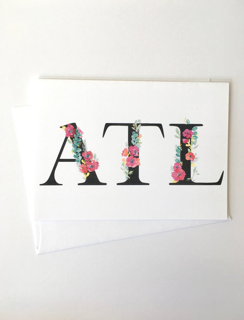 Greeting Card - ATL - Atlanta Pride - Peach or Plum