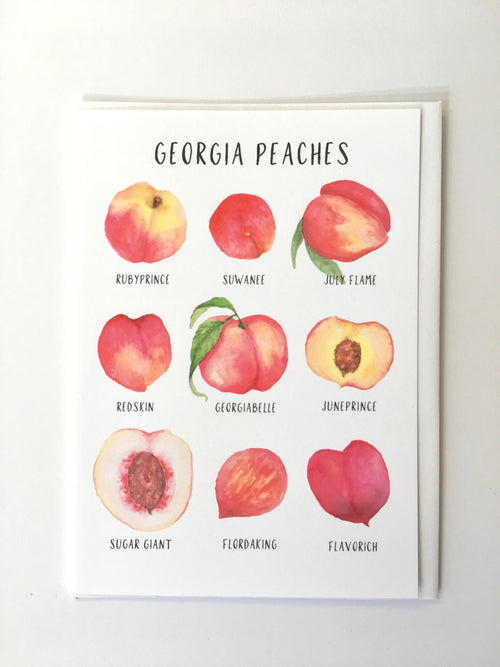 Greeting Card - Georgia Peaches - Local - Peach or Plum