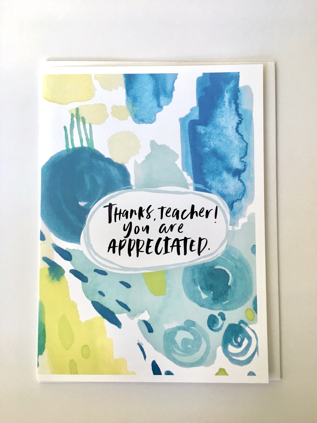 Greeting Card - Thanks teacher! You are Appreciated - Peach or Plum
