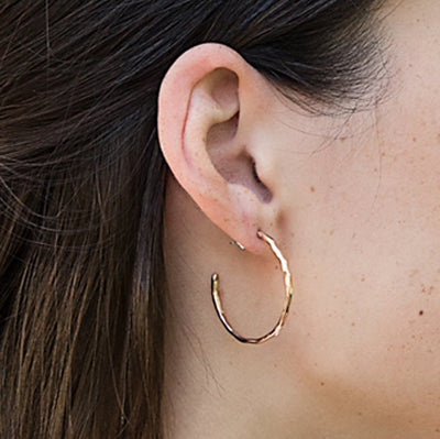 hoop earrings - gold-filled