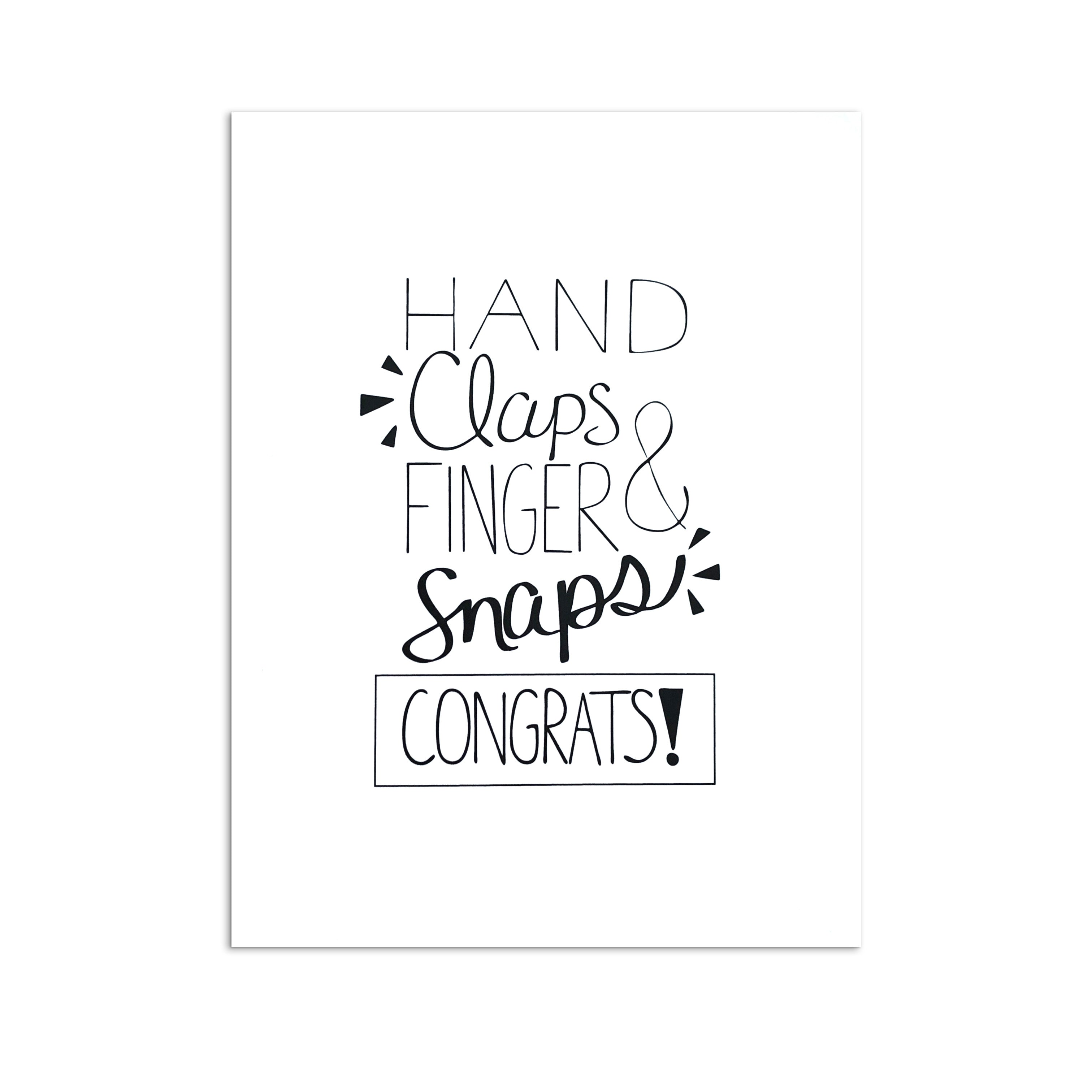 """Hand Claps"" Congratulations Greeting Card"