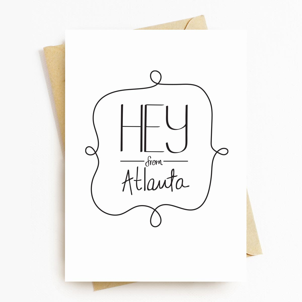 Hey From Atlanta Neighborhood Greeting Card