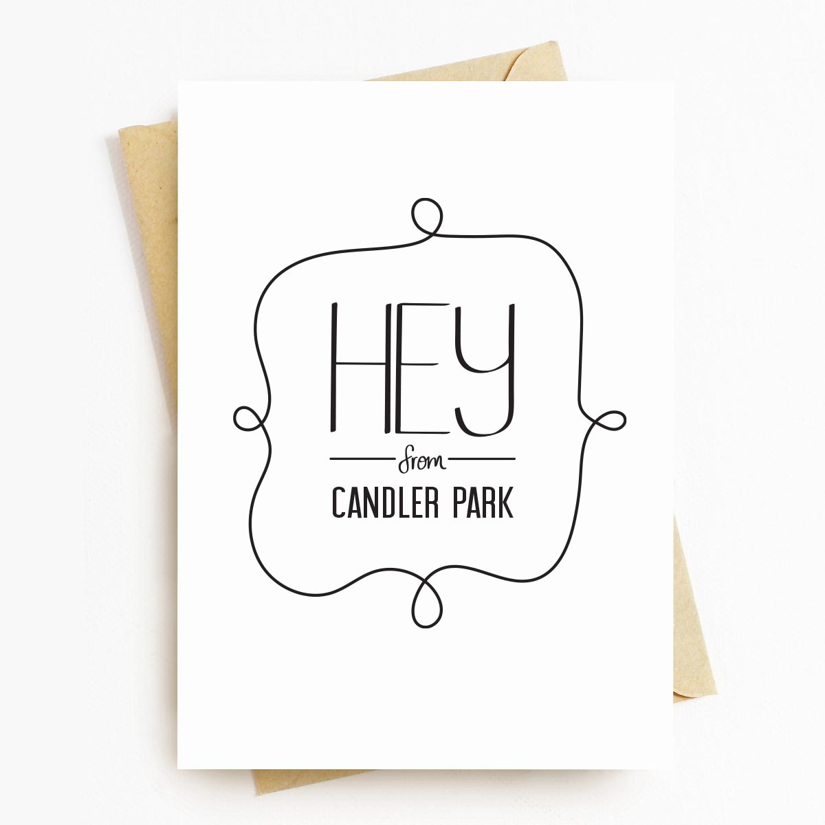 Hey From Candler Park Neighborhood Greeting Card