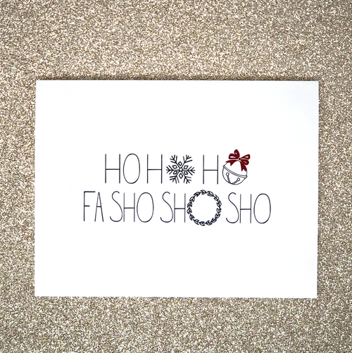 """HO HO HO"" Holiday Greeting Card Set"