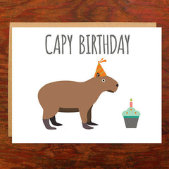 Capy Birthday - Blank Inside