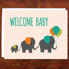 Welcome Baby - Blank Inside