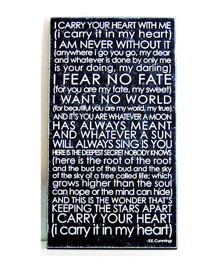 sc 1 st  The Beehive & Subway Wall Art - I Carry Your Heart u2013 the beehive