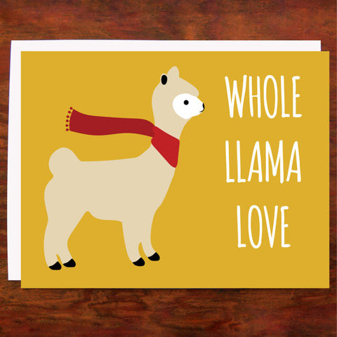 Whole Llama Love - Blank Inside