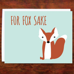 For Fox Sake - Blank Inside