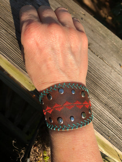 Womens Leather Cuff, Womens leather bracelet, Statement Cuff, Boho, Country, modern bracelet, boho cuff, Modern cuff, nashville inspired,