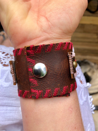 Womens Boho Leather Cuff, Boho Leather Cuff, Boho, Gypsy, Fashion boho leather cuff, Fashion leather cuff, boho, boho chic cuff, bohemian