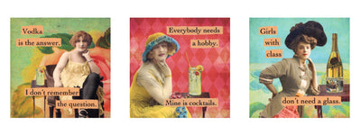"magnet set by ian nicholas - ""Ladies who drink"""