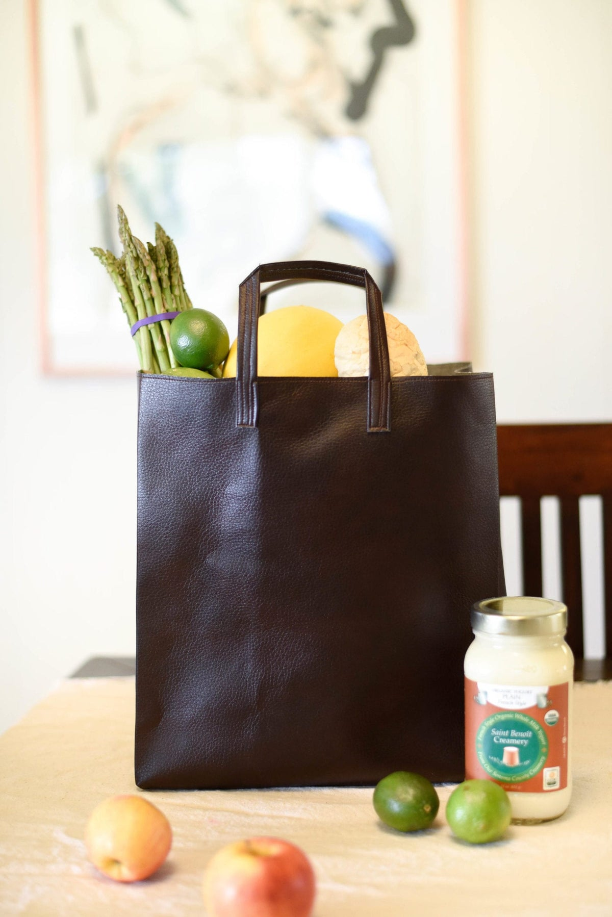 Machine Sewing Leather 101 :: The Vegan Leather Tote