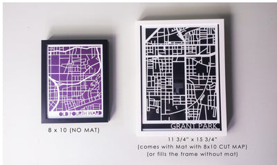 Inman Park Neighborhood Paper Cut Map