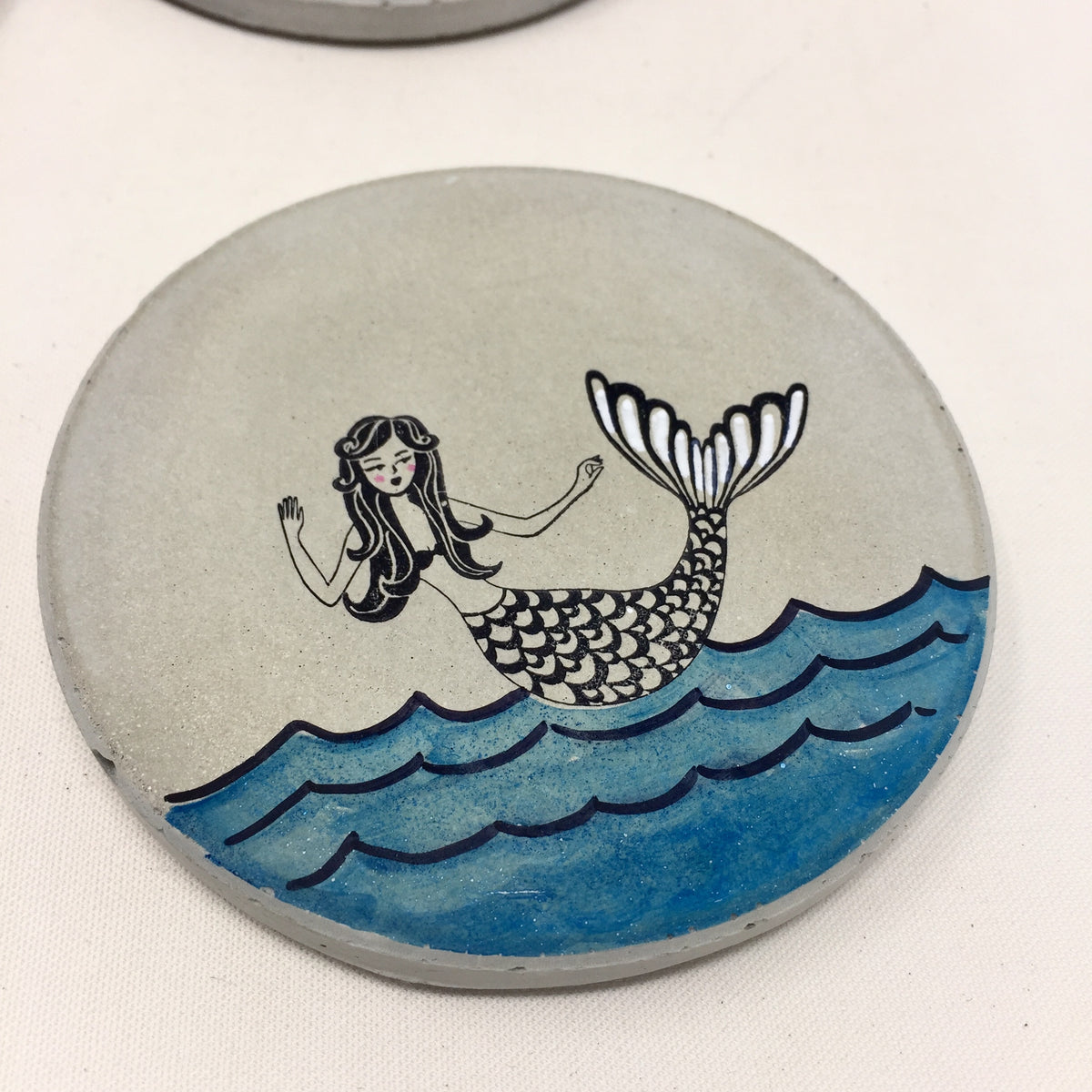 Mermaid Concrete Coasters