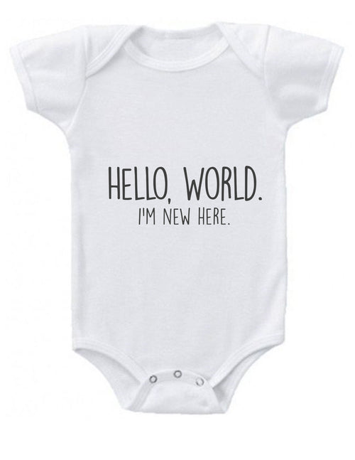 Hello World Baby Onesie