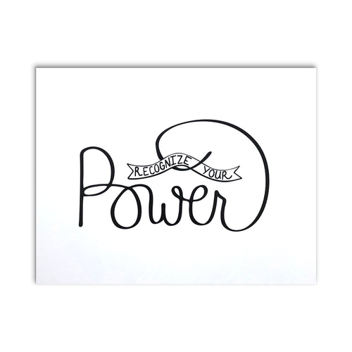 """Recognize Your Power"" Motivational Greeting Card"