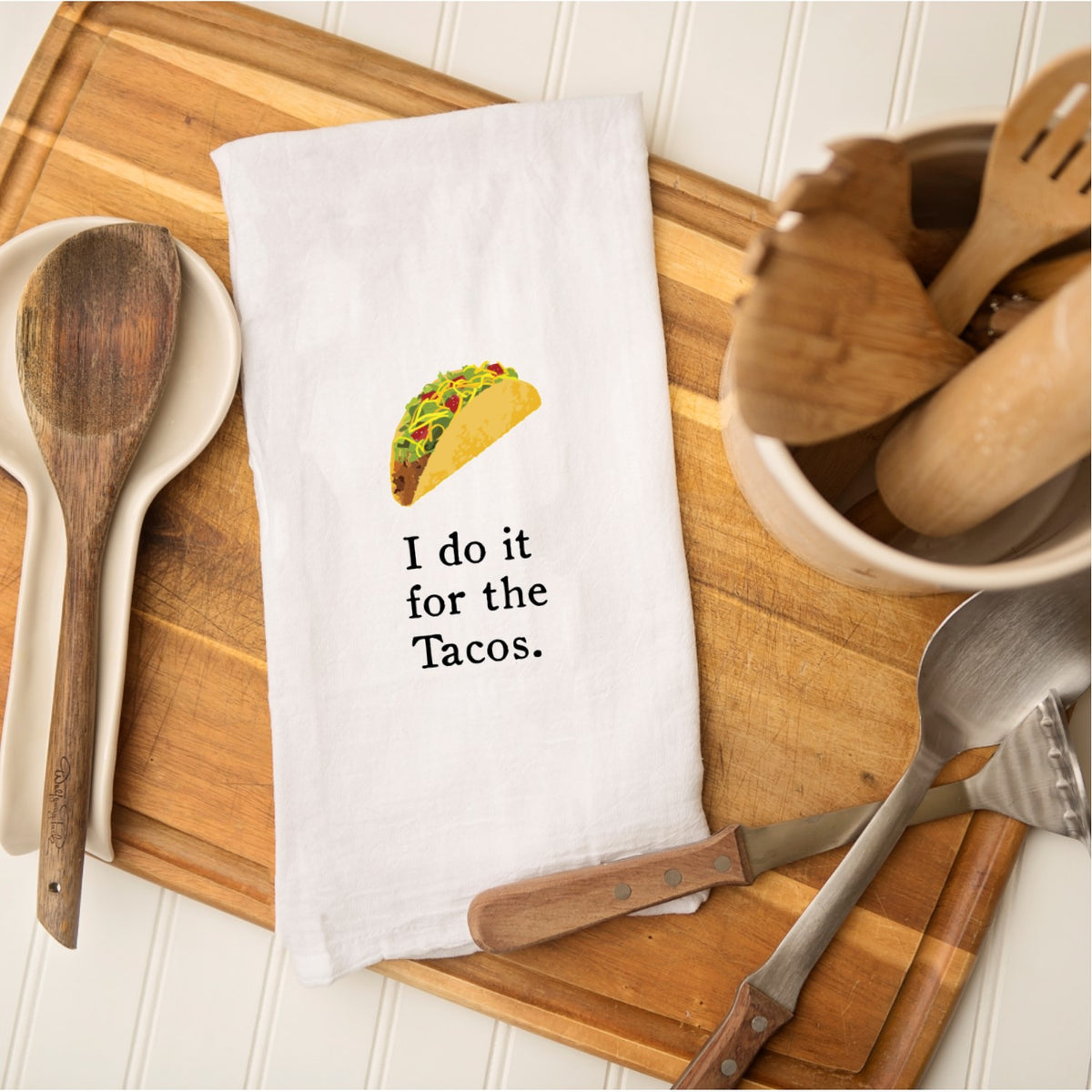 Tea Towel - I Do it for the Tacos