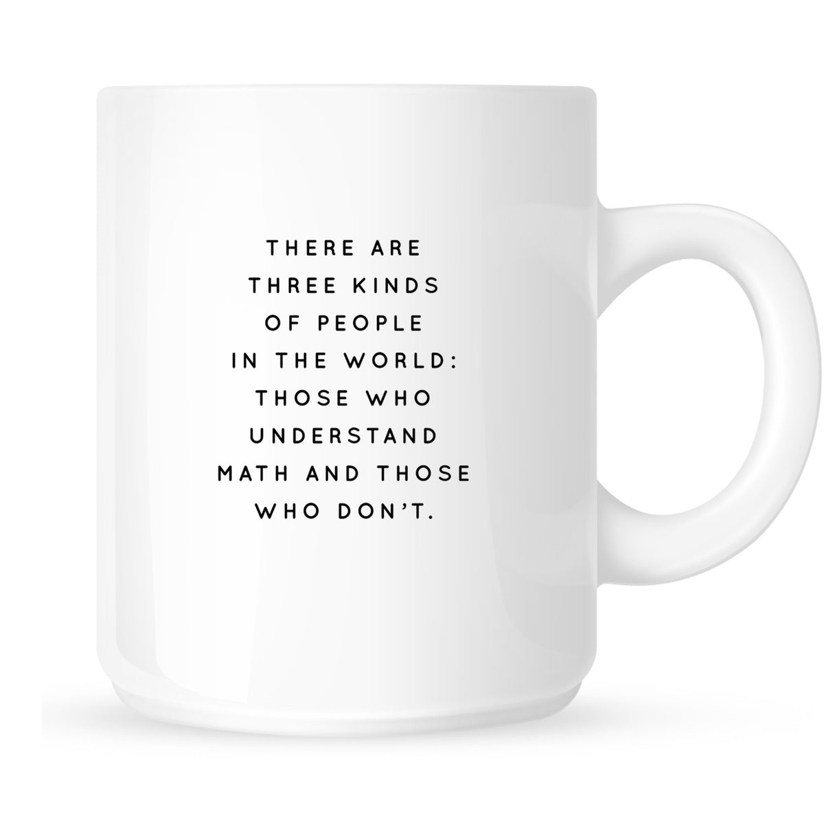 Mug - There Are Three Kinds of People in the World: Those Who Understand Math and Those Who Don't