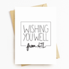 """Wishing You Well From ATL"" Motivational Greeting Card"