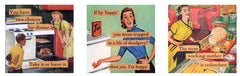 "magnet set by ian nicholas - ""working moms"""