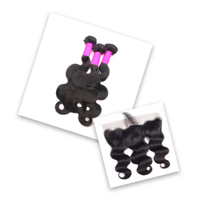 Body Wave Bundle Special + Frontal
